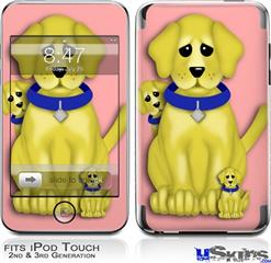 iPod Touch 2G & 3G Skin - Puppy Dogs on Pink