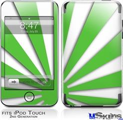 iPod Touch 2G & 3G Skin - Rising Sun Japanese Green