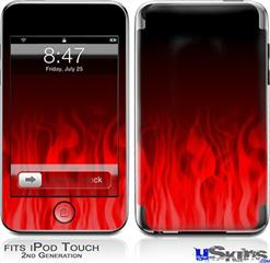 iPod Touch 2G & 3G Skin - Fire Flames Red