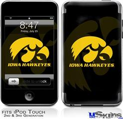 iPod Touch 2G & 3G Skin - Iowa Hawkeyes Herkey Gold on Black