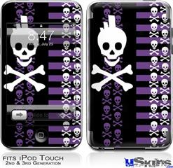 iPod Touch 2G & 3G Skin - Skulls and Stripes 6