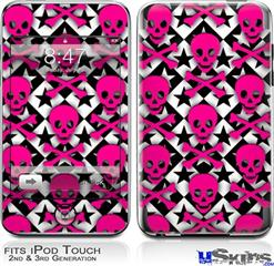 iPod Touch 2G & 3G Skin - Pink Skulls and Stars