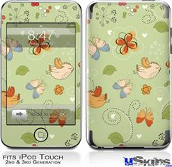 iPod Touch 2G & 3G Skin - Birds Butterflies and Flowers