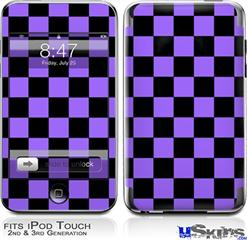 iPod Touch 2G & 3G Skin - Checkers Purple