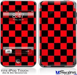 iPod Touch 2G & 3G Skin - Checkers Red