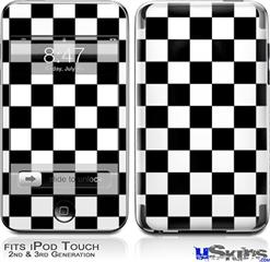 iPod Touch 2G & 3G Skin - Checkers White