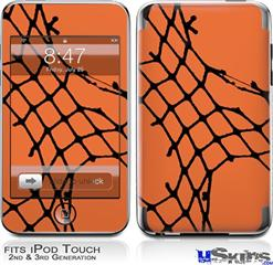 iPod Touch 2G & 3G Skin - Ripped Fishnets Orange