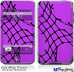 iPod Touch 2G & 3G Skin - Ripped Fishnets Purple