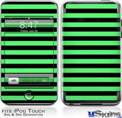 iPod Touch 2G & 3G Skin - Stripes Green