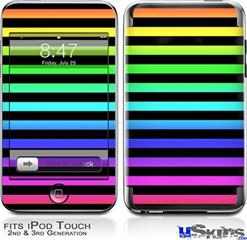 iPod Touch 2G & 3G Skin - Stripes Rainbow