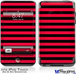 iPod Touch 2G & 3G Skin - Stripes Red