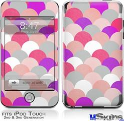 iPod Touch 2G & 3G Skin - Brushed Circles Pink
