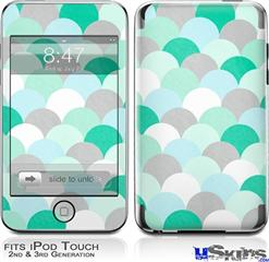 iPod Touch 2G & 3G Skin - Brushed Circles Seafoam