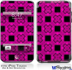 iPod Touch 2G & 3G Skin - Criss Cross Pink