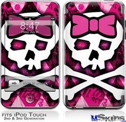 iPod Touch 2G & 3G Skin - Pink Bow Princess