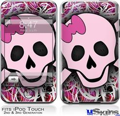 iPod Touch 2G & 3G Skin - Pink Skull