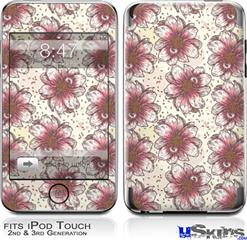 iPod Touch 2G & 3G Skin - Flowers Pattern 23