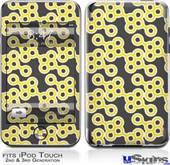 iPod Touch 2G & 3G Skin - Locknodes 02 Yellow