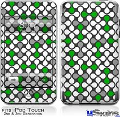 iPod Touch 2G & 3G Skin - Locknodes 05 Green