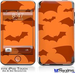 iPod Touch 2G & 3G Skin - Deathrock Bats Orange