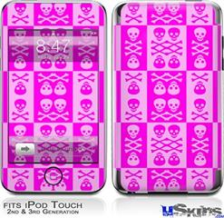 iPod Touch 2G & 3G Skin - Skull And Crossbones Pattern Pink