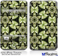 iPod Touch 2G & 3G Skin - Leave Pattern 1 Green