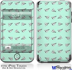 iPod Touch 2G & 3G Skin - Paper Planes Mint