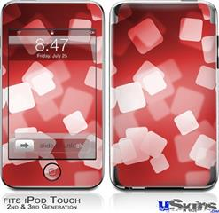 iPod Touch 2G & 3G Skin - Bokeh Squared Red