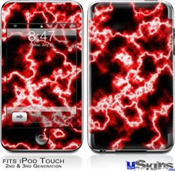 iPod Touch 2G & 3G Skin - Electrify Red
