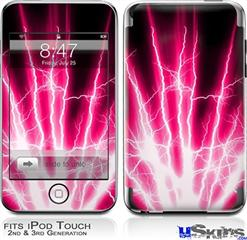 iPod Touch 2G & 3G Skin - Lightning Pink