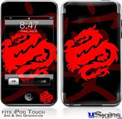 iPod Touch 2G & 3G Skin - Oriental Dragon Red on Black