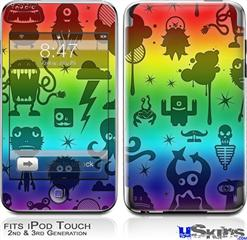 iPod Touch 2G & 3G Skin - Cute Rainbow Monsters