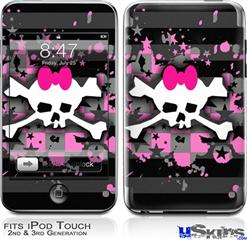 iPod Touch 2G & 3G Skin - Pink Bow Skull