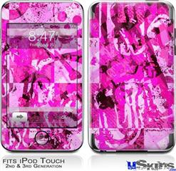iPod Touch 2G & 3G Skin - Pink Plaid Graffiti