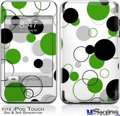 iPod Touch 2G & 3G Skin - Lots of Dots Green on White